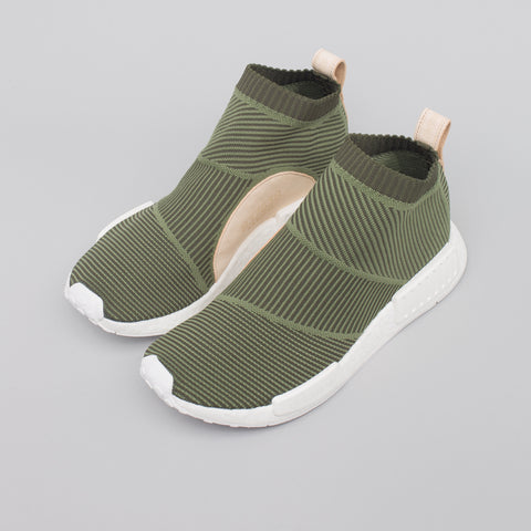 adidas NMD CS1 Primeknit in Olive/White - Notre