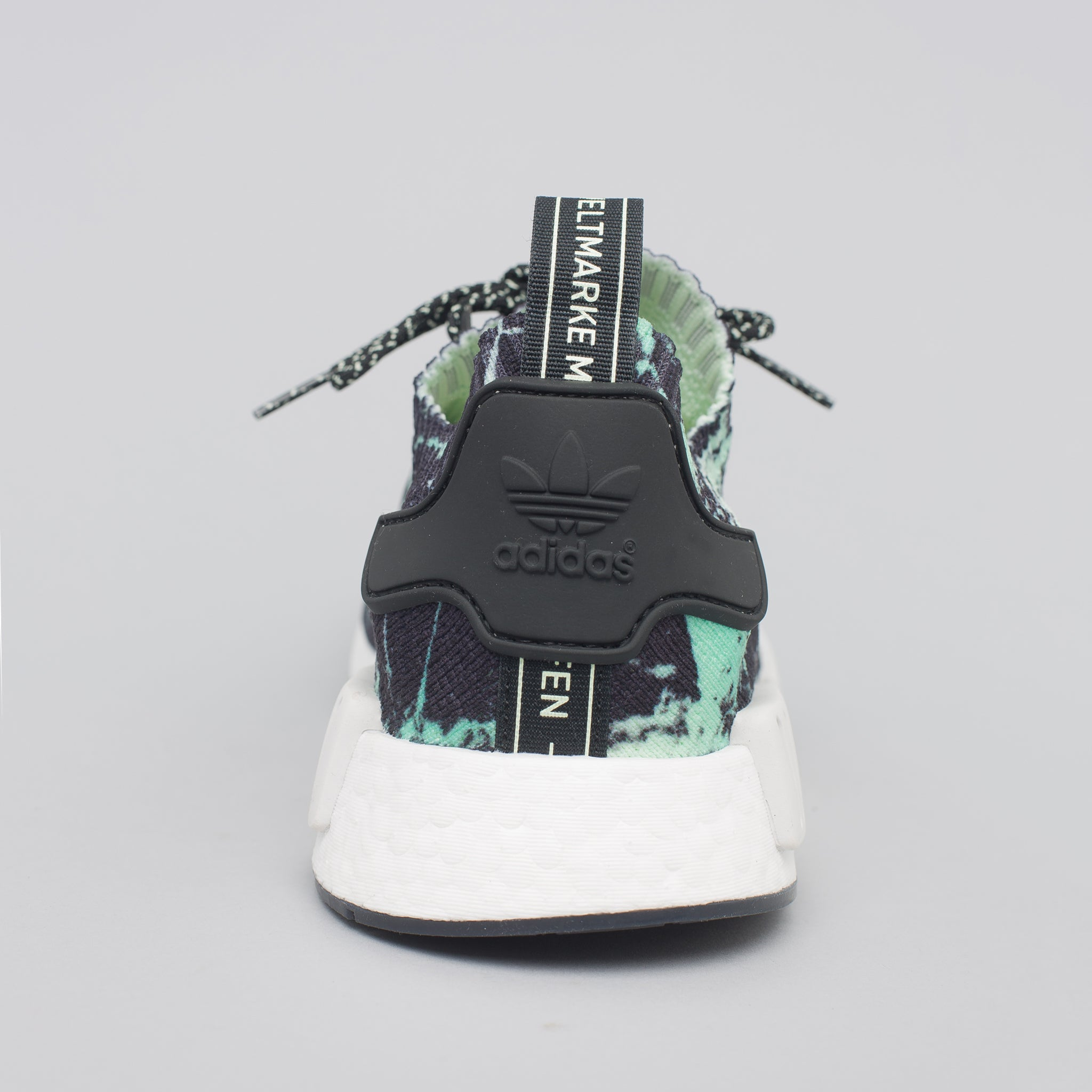 NMD R1 Primeknit in Green Marble