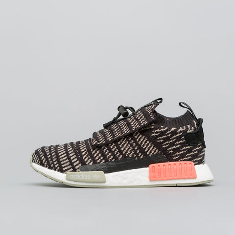 adidas NMD TS1 Primeknit in Black/Coral/Sesame - Notre