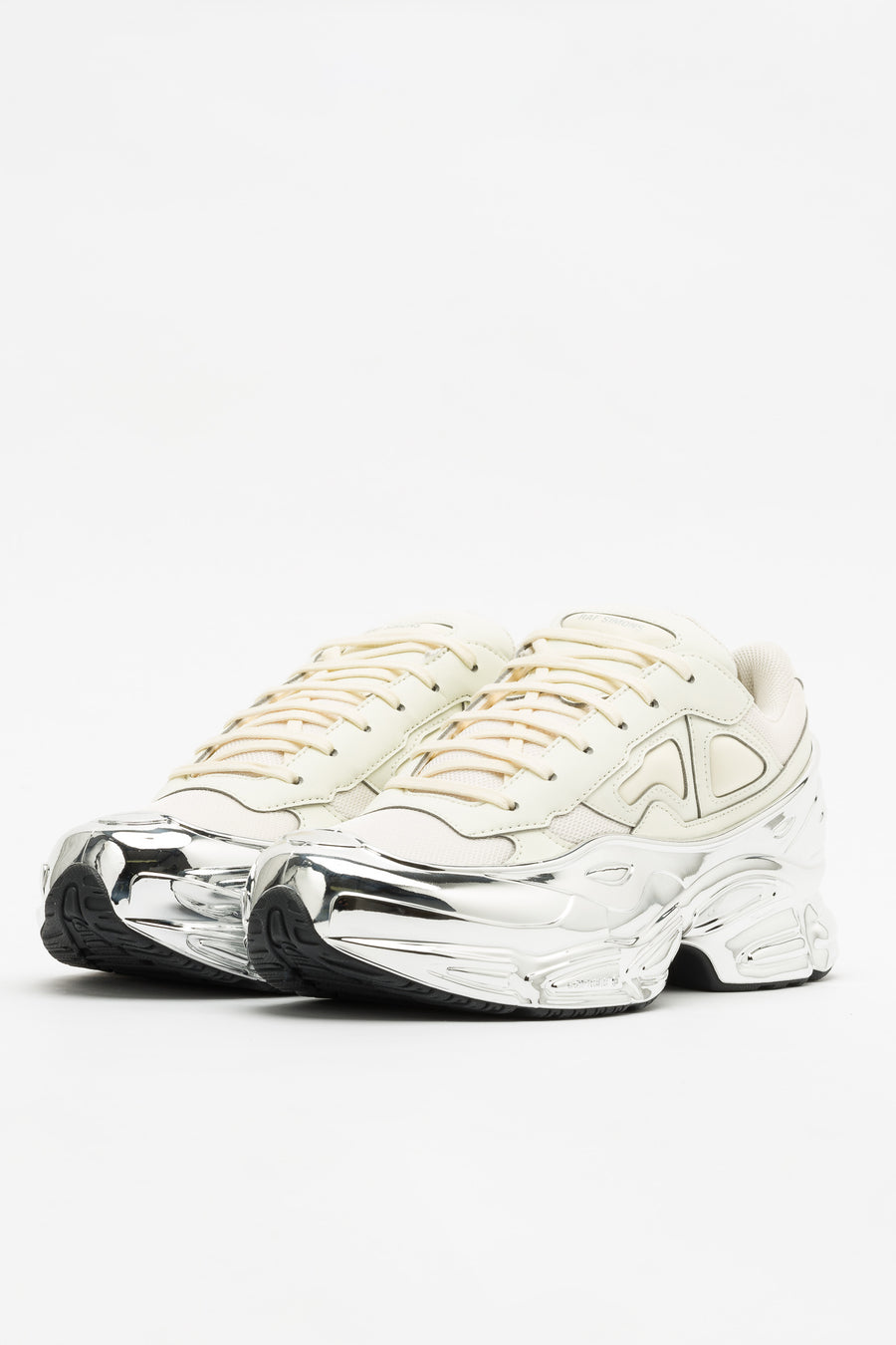 adidas RS Ozweego in White/Silver Metallic - Notre