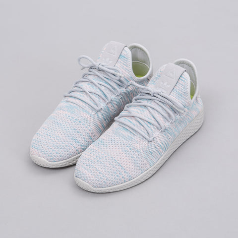 Adidas Pharrell Williams Tennis HU Shoes in Blue/Pink/Light Grey - Notre