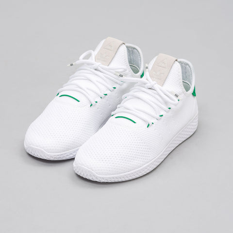 Adidas Pharrell Williams Tennis HU Primeknit in White/Green - Notre