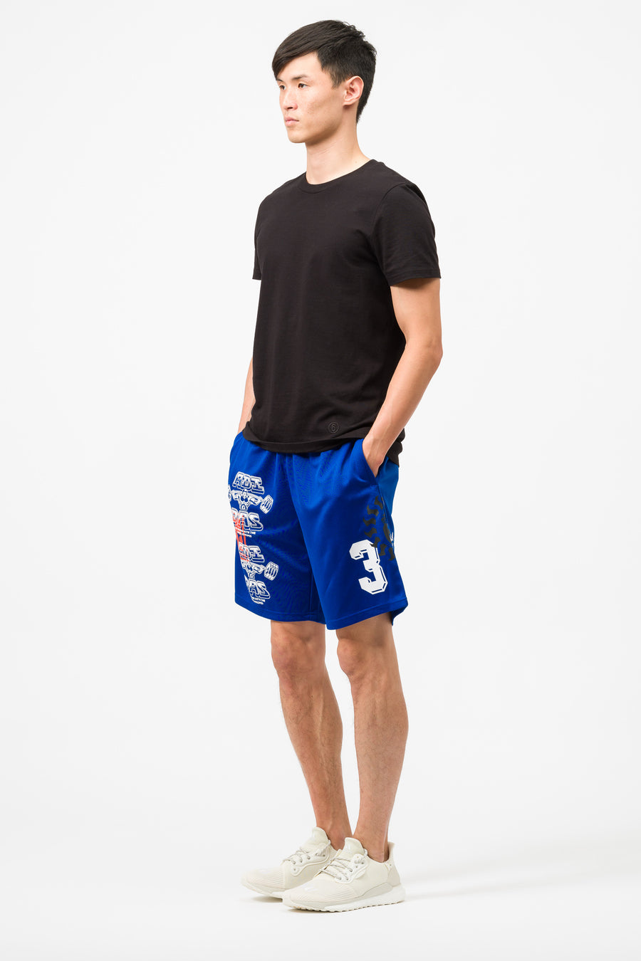 adidas Print Short in Royal/White - Notre