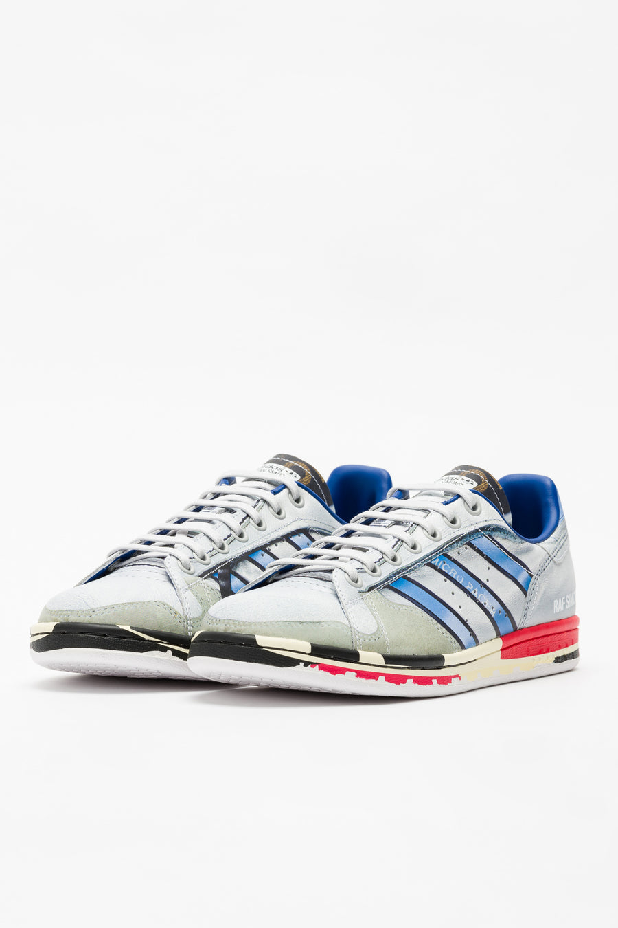 adidas RS Micro Stan in Silver/White/Red - Notre