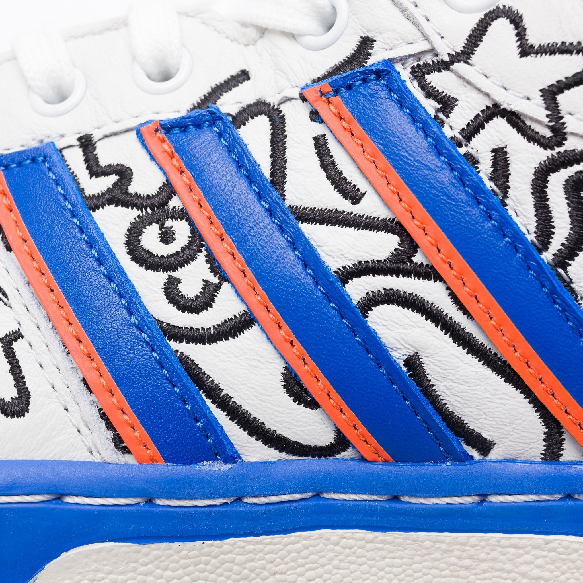 170d6eac adidas Keith Haring Rivalry Hi in Crystal White/Blue   Notre
