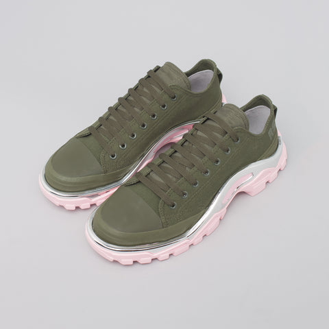 Adidas x Raf Simons Detroit Runner in Olive/Pink - Notre