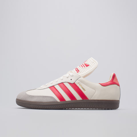 adidas Samba Classic OG in Core White/Scarlet - Notre