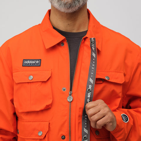 adidas Wardour Military Jacket in Orange - Notre