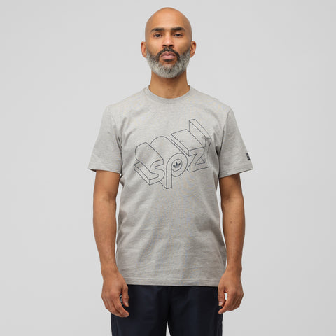 adidas Wireframe T-Shirt in Heather Grey - Notre