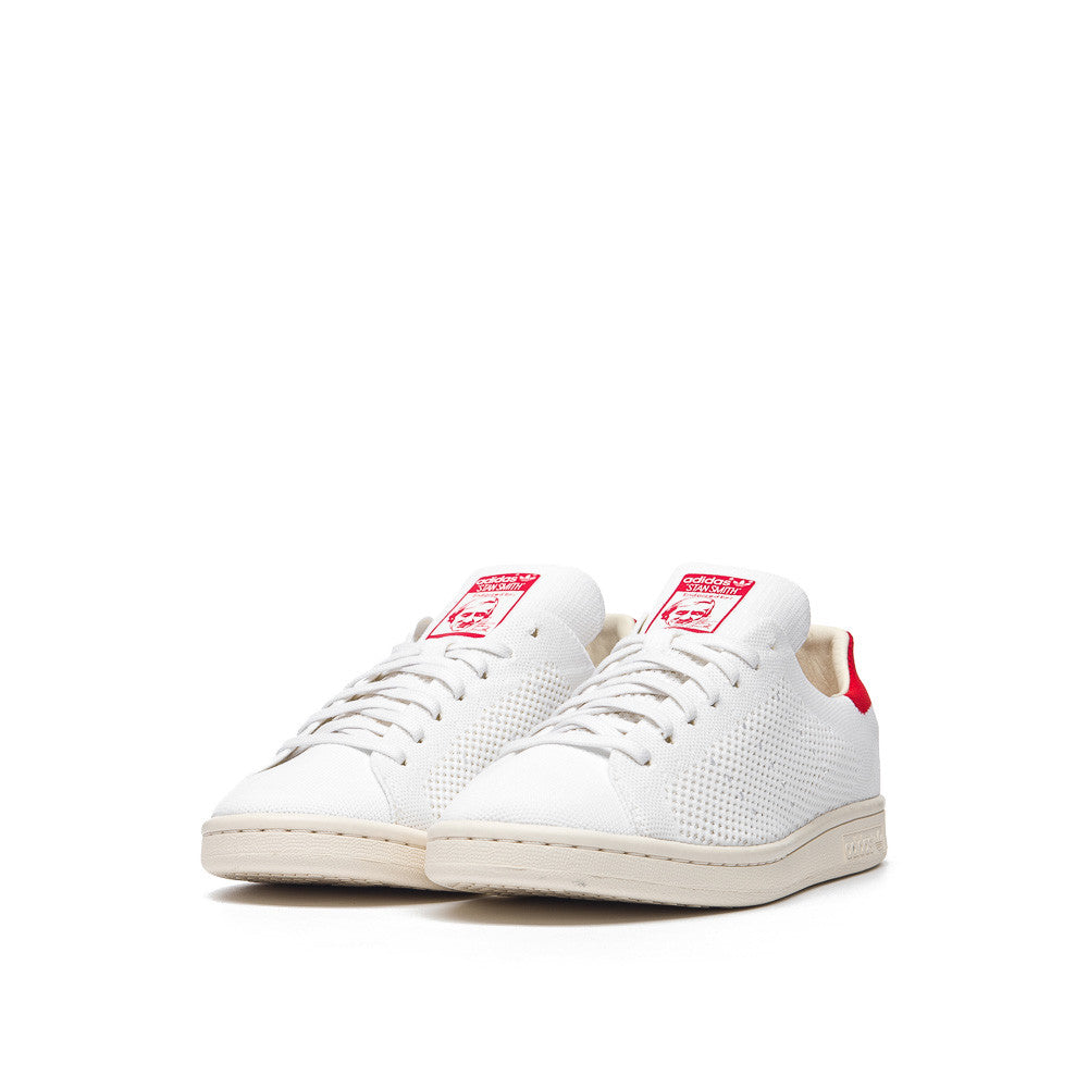 adidas Stan Smith OG Primeknit in Vintage White/Red S75147 Side View