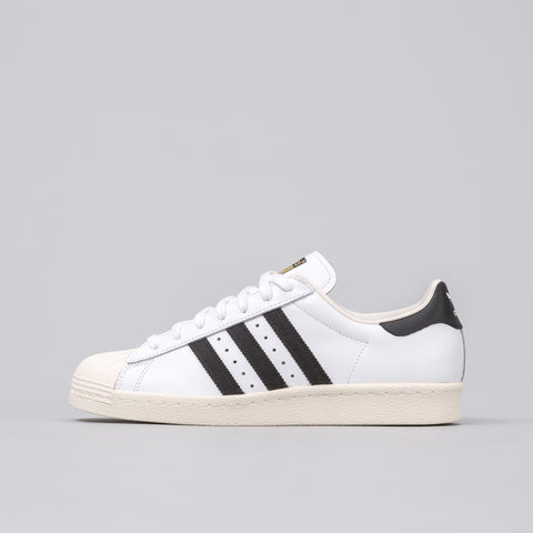 Superstar 80s in White/Black/Chalk