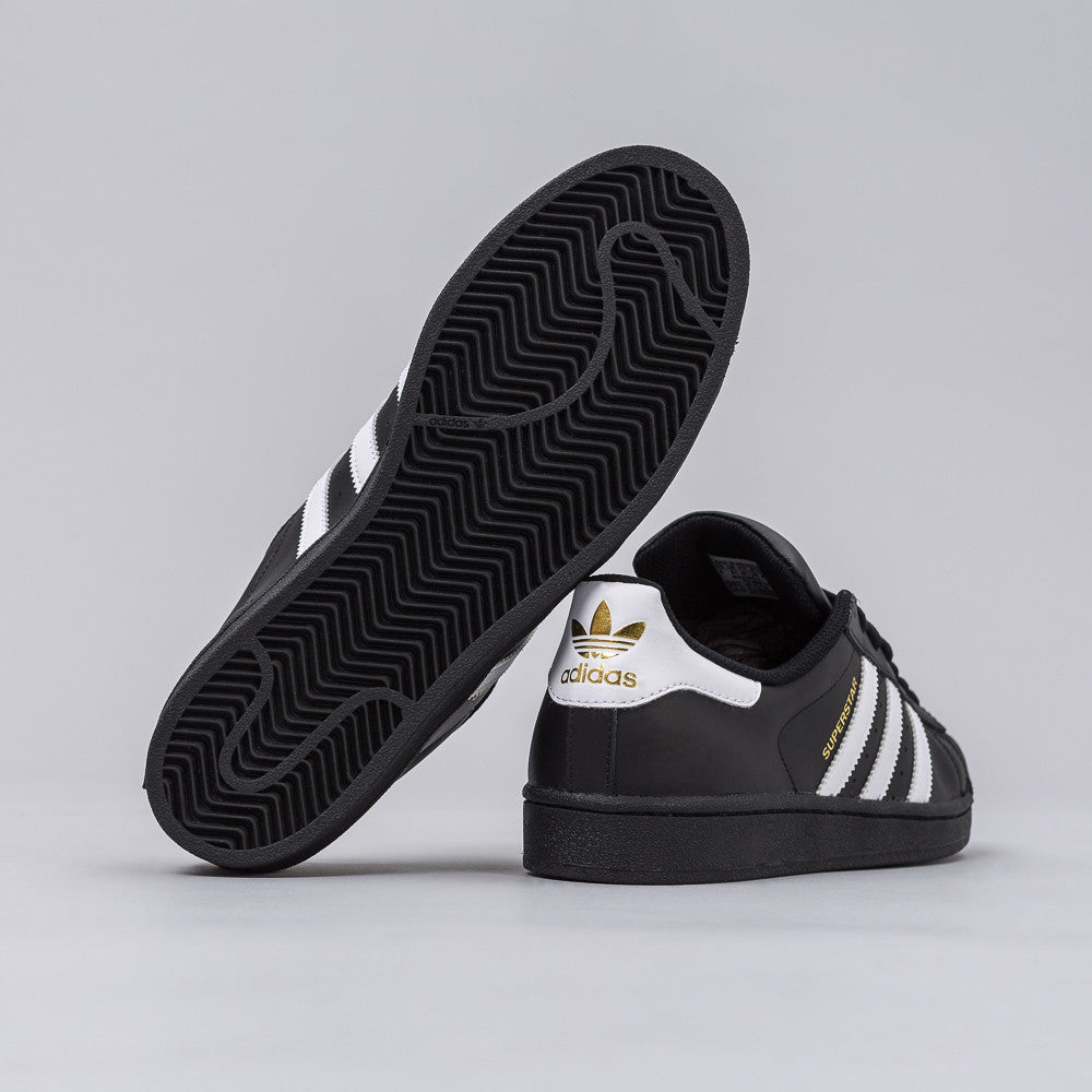 adidas Superstar Foundation Big Kids B23642 Black White Gold