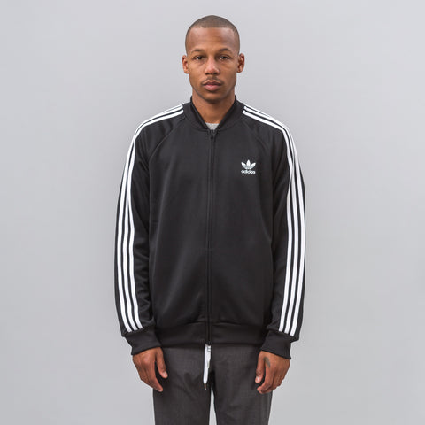 Adidas Superstar Relaxed Track Jacket in Black - Notre