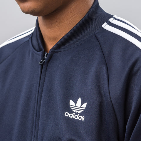 Adidas Relaxed Track Jacket in Navy - Notre