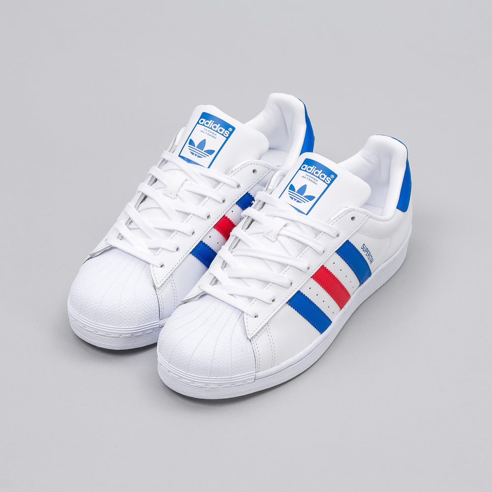 Adidas Superstar in Vintage White/Red/Blue - Notre
