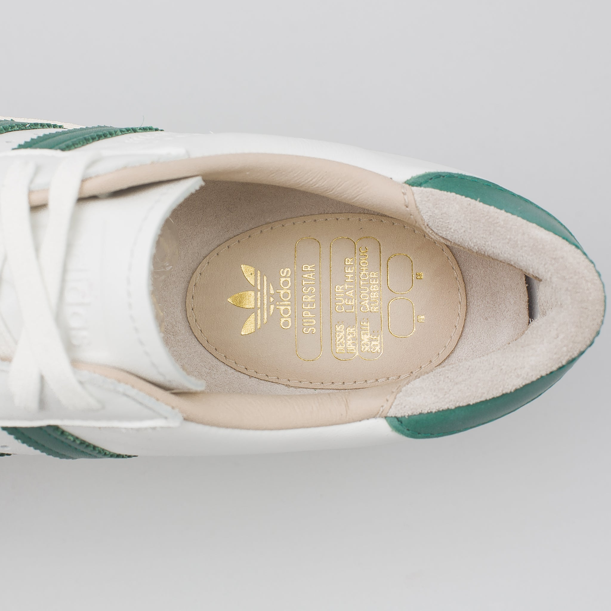 Superstar 80s Recon in White/Green