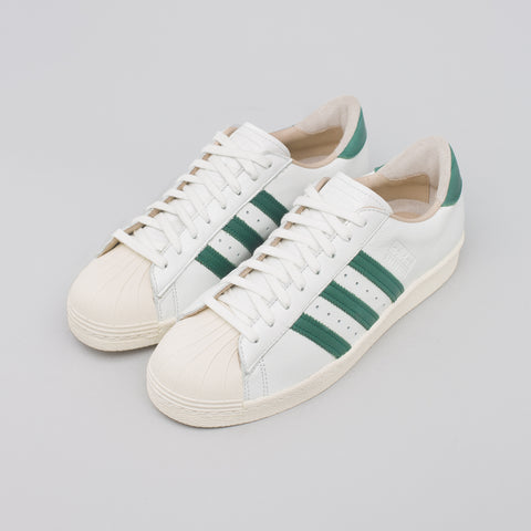 adidas Superstar 80s Recon in White/Green - Notre