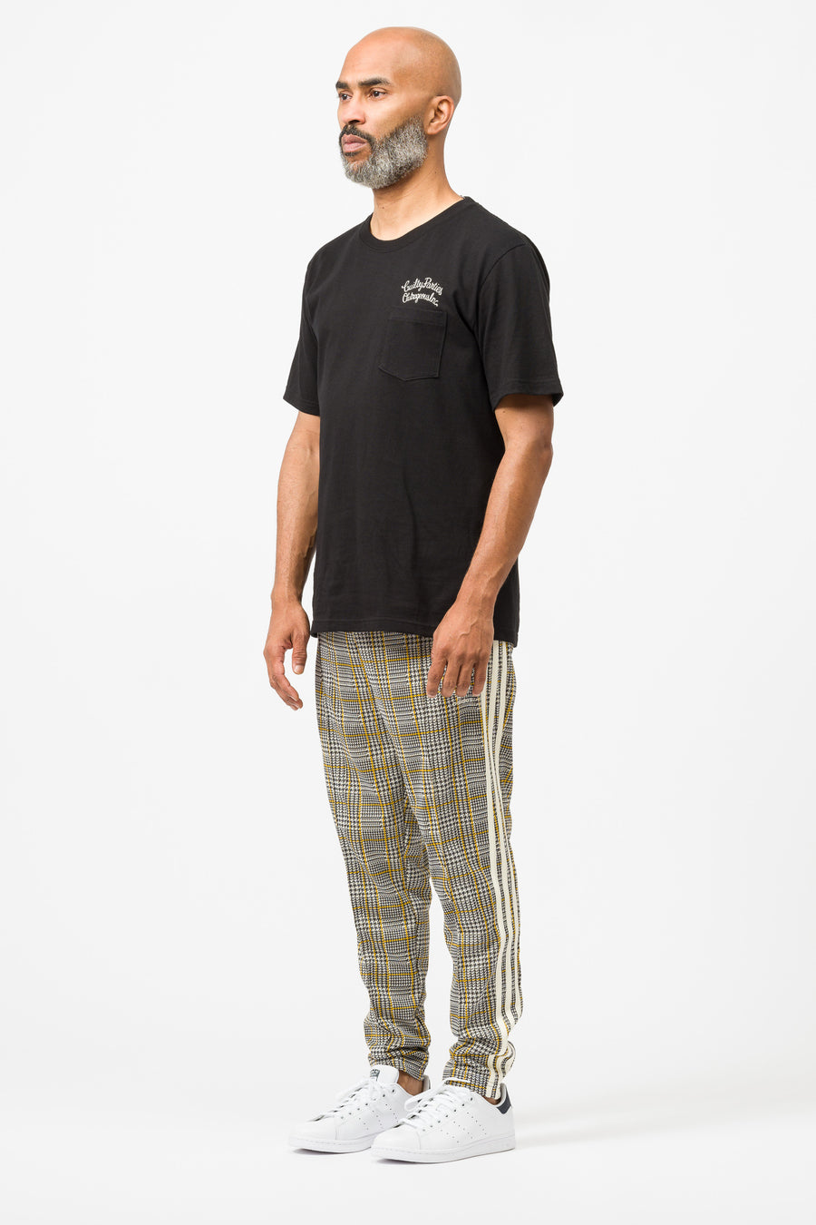 Tartan Track Pant in Multi/White