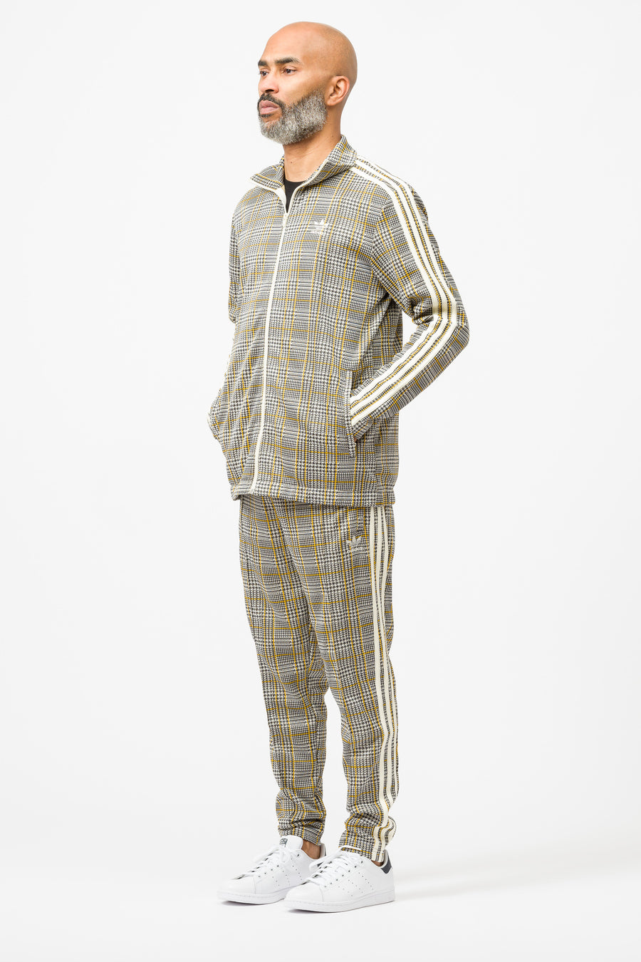 adidas Tartan Track Top in Multi/White - Notre