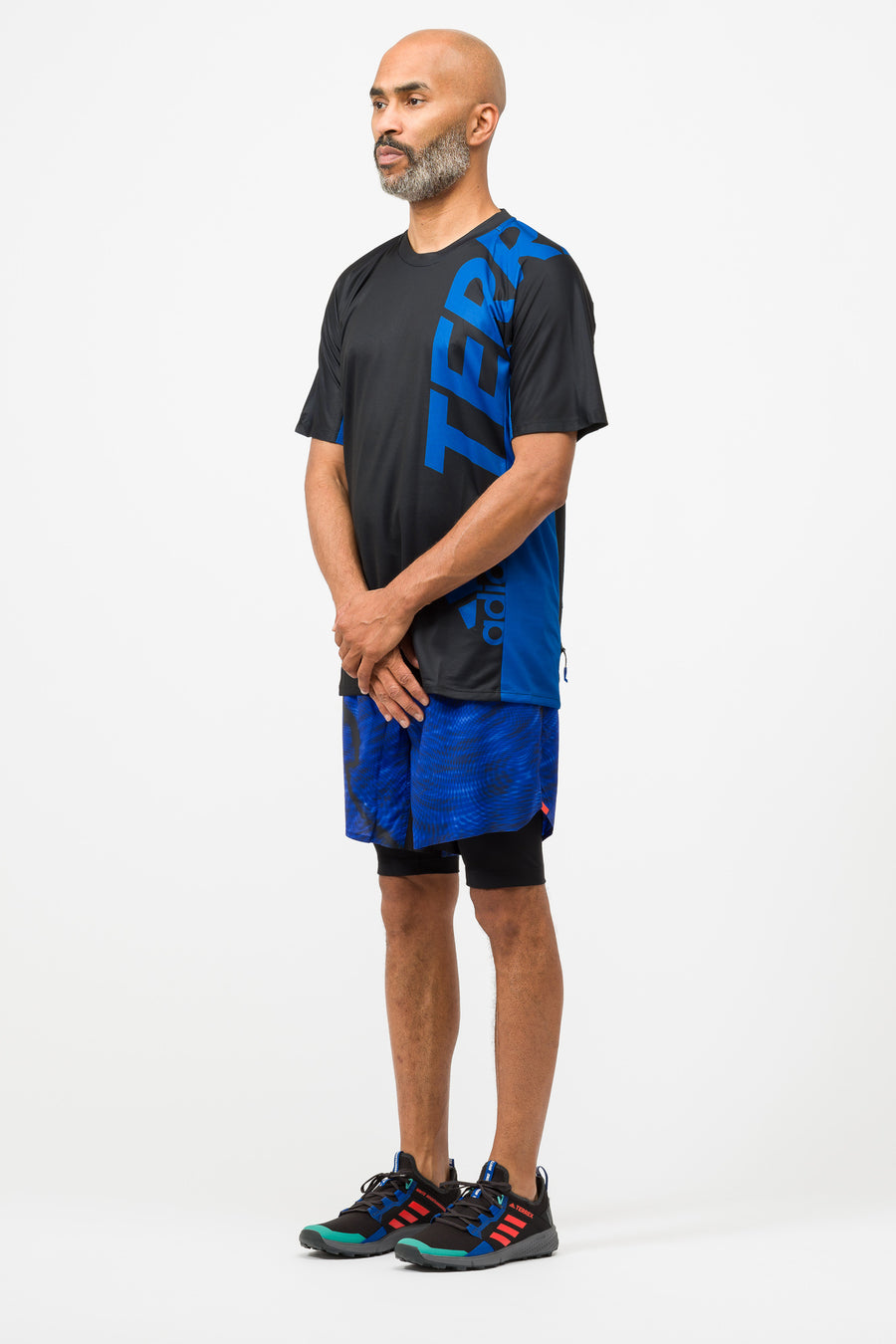 adidas Terrex WM Trail Tee in Royal Blue/Black - Notre