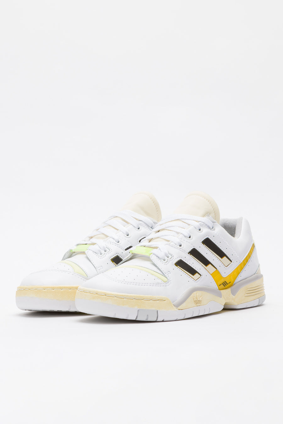 adidas Highs and Lows Torsion Edberg in White/Yellow/Black - Notre