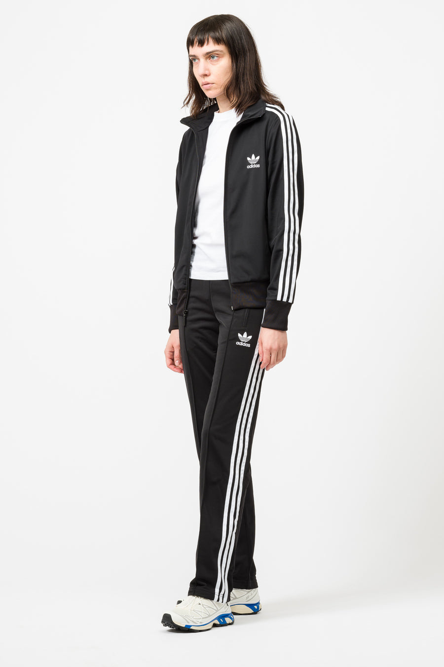 adidas Firebird Track Top in Black - Notre