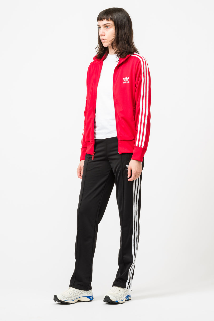 adidas Firebird Track Top in Scarlet - Notre