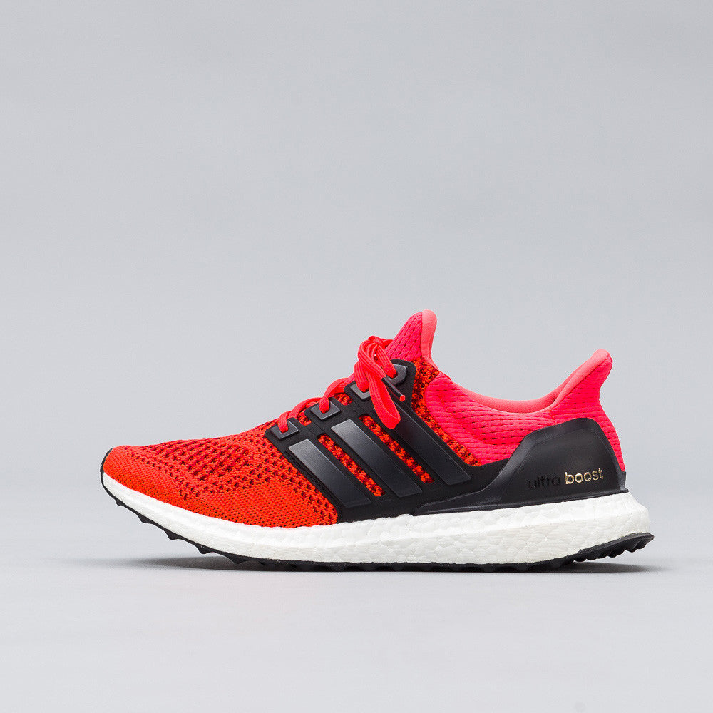 adidas Ultra Boost in Solar Red/Black Side View B34050