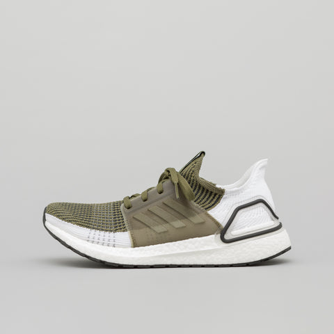 adidas Ultra Boost 19 in Khaki/White - Notre
