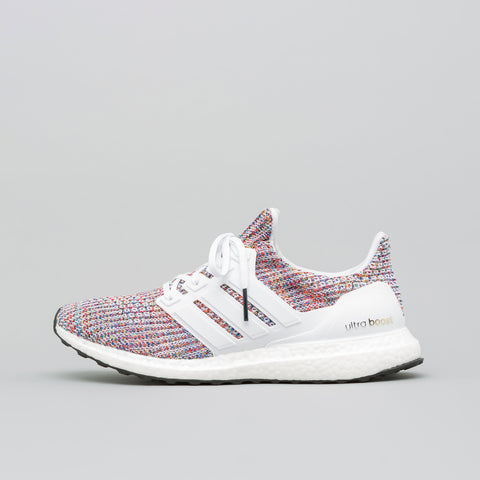 adidas Ultra Boost 4.0 in White/Multicolor - Notre