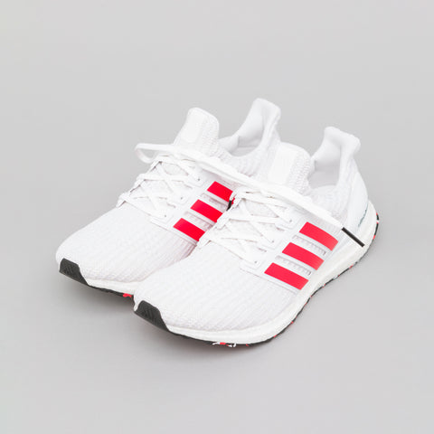 adidas Ultraboost in White/Red - Notre