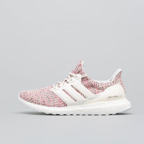 adidas Women's Ultra Boost in White/Pink - Notre