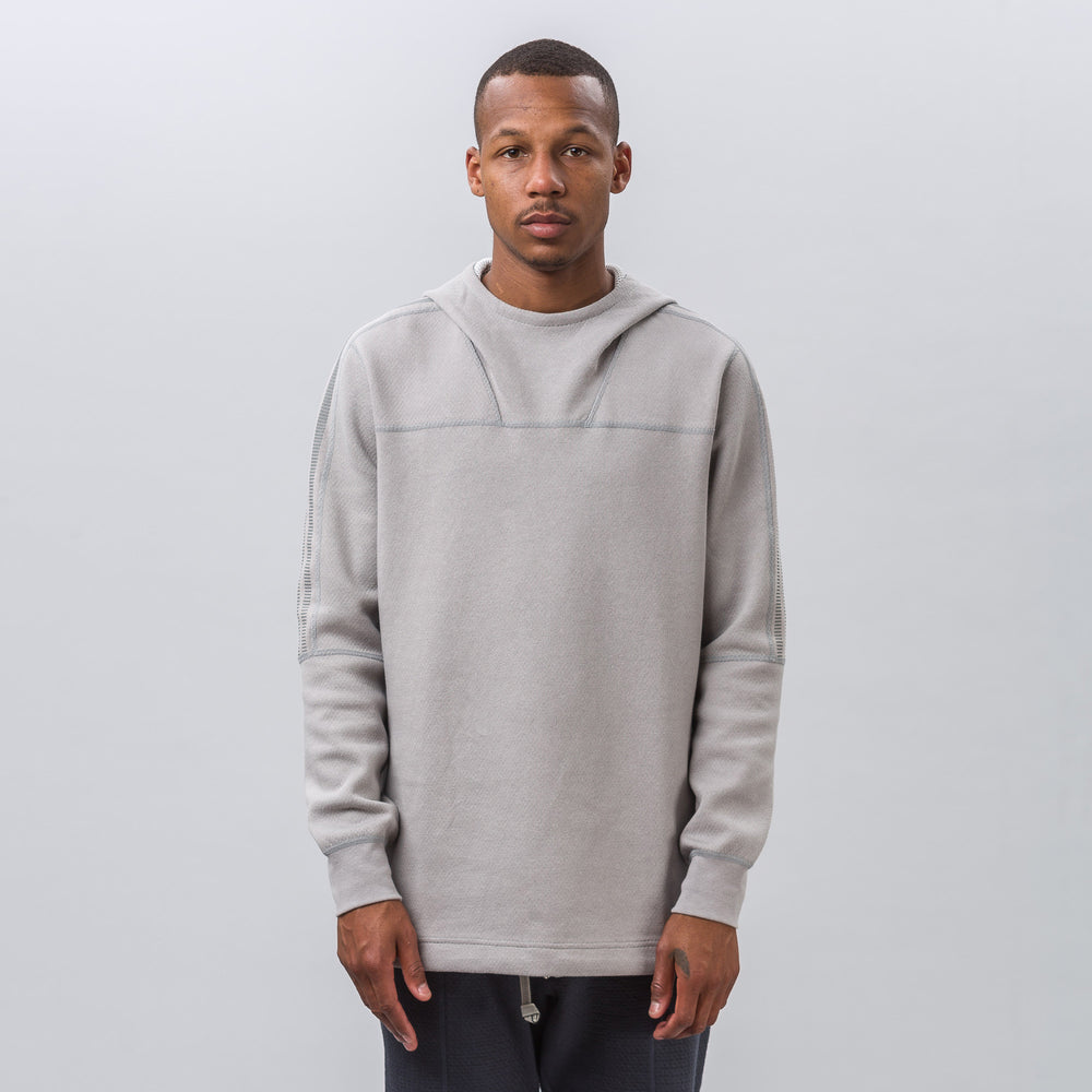 adidas x wings+horns Bonded Linen Hoody in Solid Grey