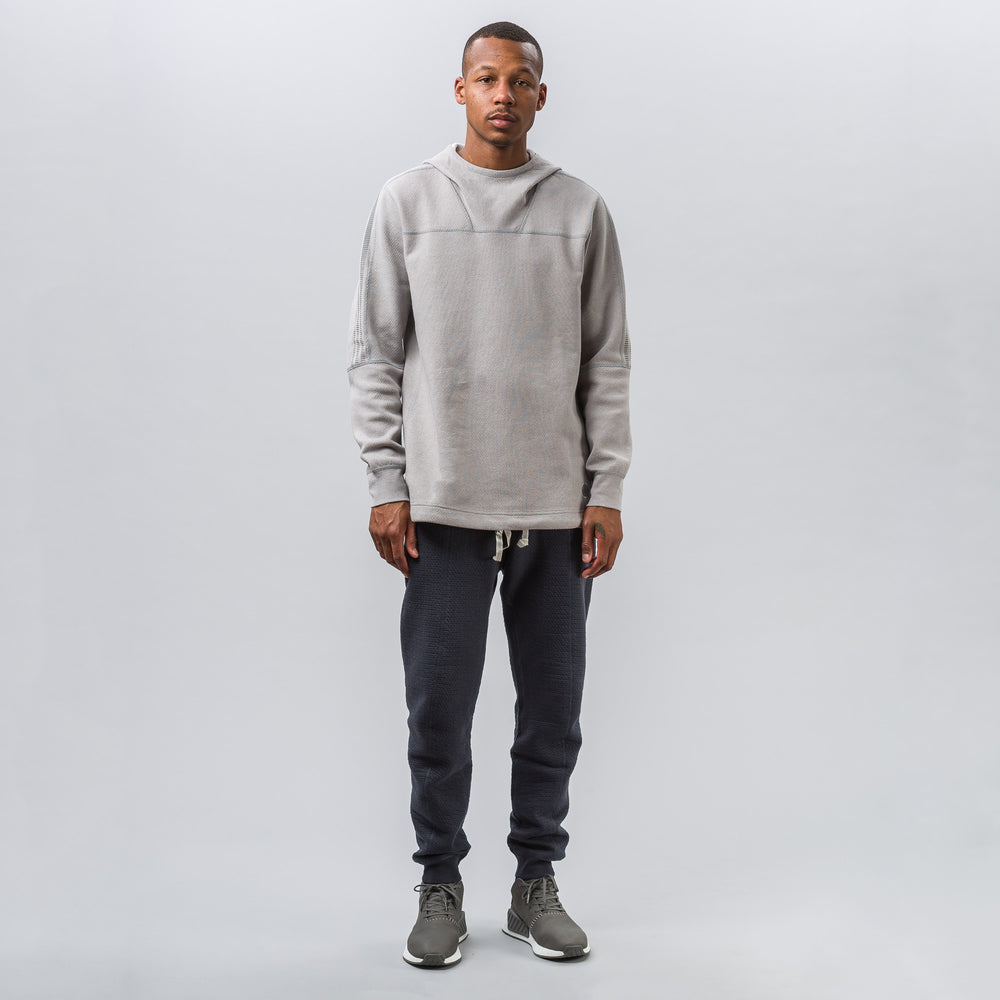 Adidas adidas x wings+horns Bonded Linen Hoody in Solid Grey - Notre