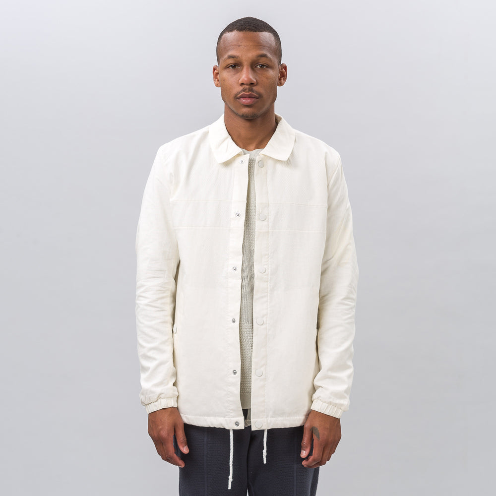 Adidas adidas x Wings+Horns Linen Coach Jacket in Off White - Notre