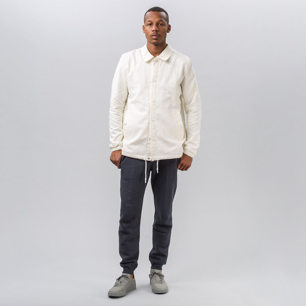 adidas x Wings+Horns Linen Coach Jacket in Off White