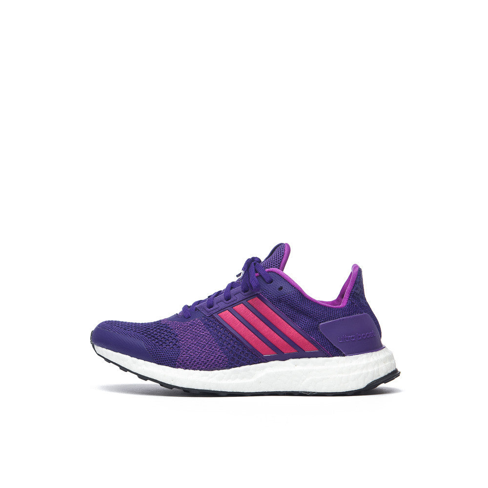 adidas Women's Ultra Boost ST in Purple/Pink AQ4430 Side View