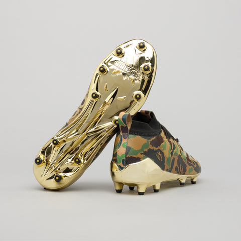 adidas x BAPE Cleats in Green Camo/Metallic Gold - Notre