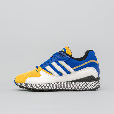 adidas x DBZ Ultra Tech in White/Royal Blue/Gold - Notre