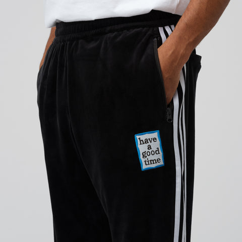 adidas x Have A Good Time Velour Track Pant in Black - Notre