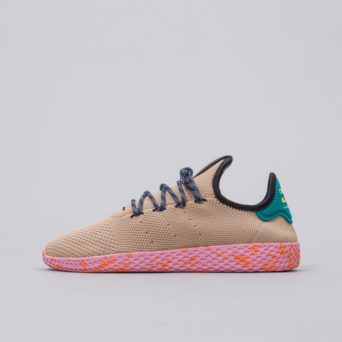 Pharrell Williams Tennis HU Shoes in Tan/Teal/Pink