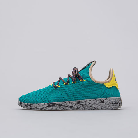 Pharrell Williams Tennis HU Shoes in Teal/Yellow/Grey