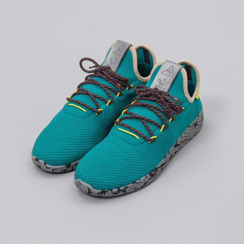 Adidas Pharrell Williams Tennis HU Shoes in Teal/Yellow/Grey - Notre
