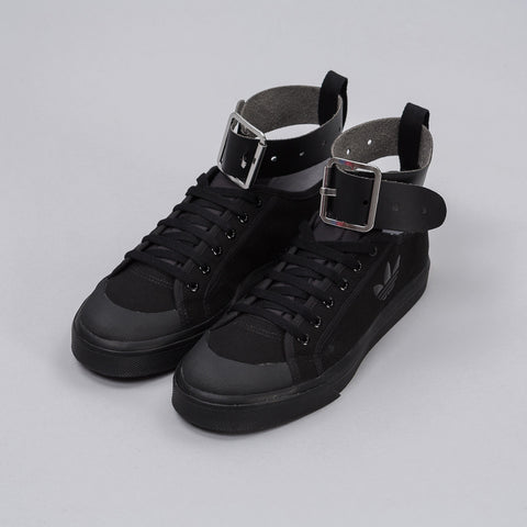 Adidas x Raf Simons Spirit Buckle Trainer in Core Black - Notre