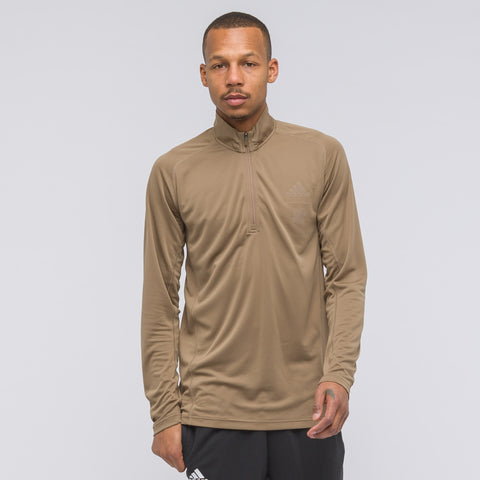 adidas x UNDEFEATED Long Sleeve Running Half Zip - Notre