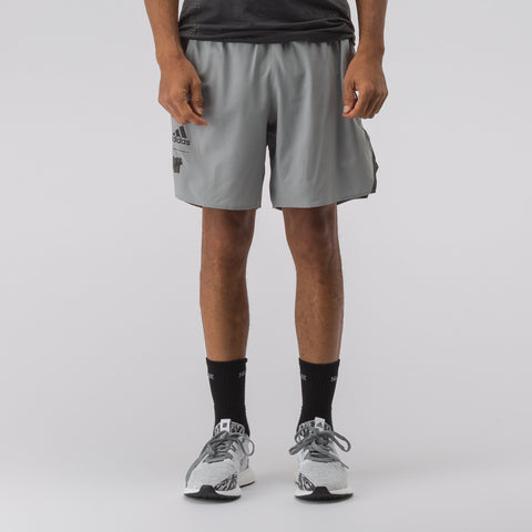 "adidas x Undefeated 7"" Ultra LTD Shorts in Grey - Notre"