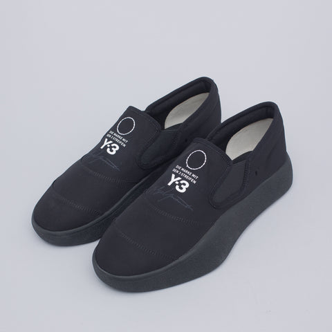 Y-3 Tangutsu Slip-On Sneaker in Black - Notre