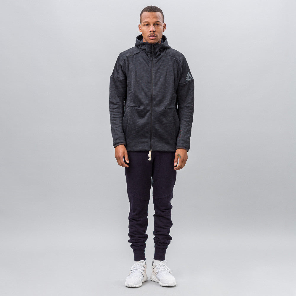 adidas Z.N.E. Climaheat Hoodie in Black Notre 1