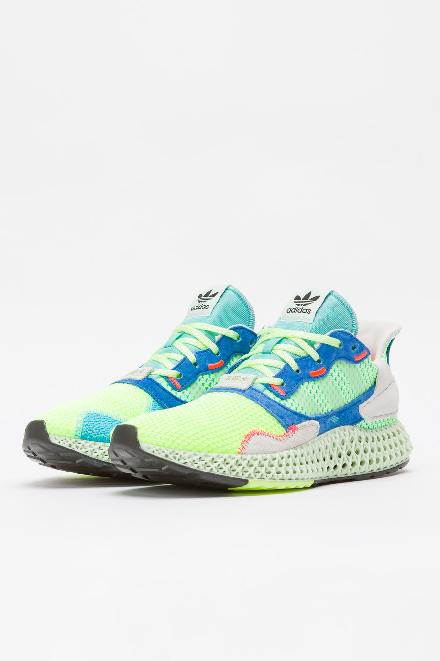 adidas ZX 4000 4D in Yellow/Green/Mint - Notre
