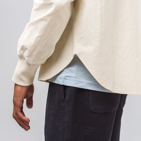 Aimé Leon Dore Full Zip Shirt Bomber in Cream - Notre